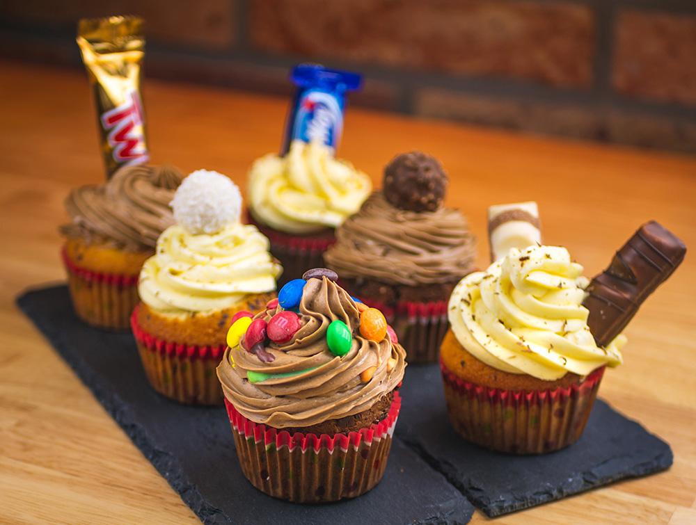 6 različitih cupcakeova